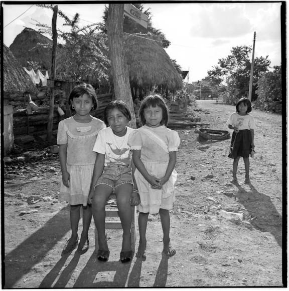 Left to right: Josefa Can May, Beatriz Del  Socorro Chuc Can and Matea Caamal May, X'Pichil, Quintana Roo, Mexico