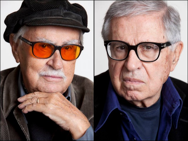 Vittorio Taviani and Paolo Taviani, NYC, 10/2/12
