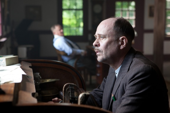 "Pinky (Terry Kinney), foreground and C.W. Rowe (Charles Haid), in ""One Armed Man,"" directed by Tim Guinee"