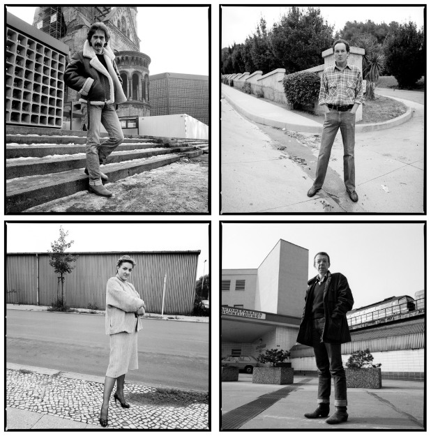 Clockwise from top left: Xaver Schwartzberger, Berlin, 2/25/83, Ulli Lommel, Hollywood, 11/18/82, Hark Bohm, Berlin, 2/21/84, Juliane Lorenz, Berlin, 7/7/82