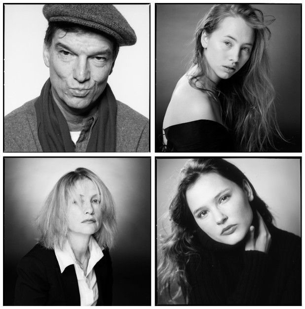 Clockwise from top left: Benoît Jacquot, Isild Le Besco, Virginie Ledoyen and Isabelle Huppert
