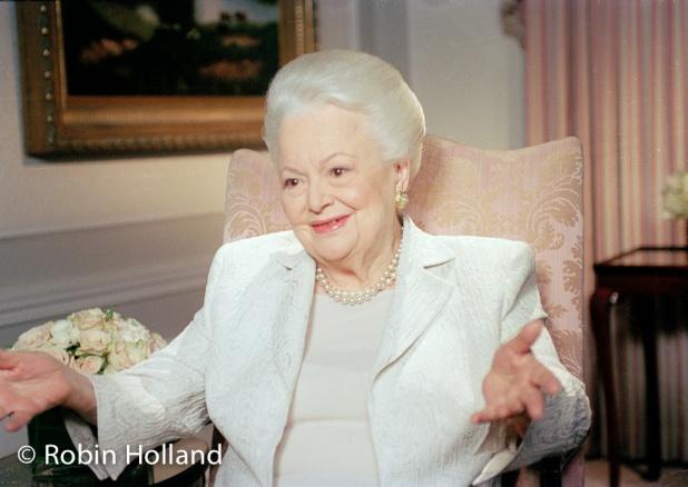 Olivia de Havilland, NYC, 4/6/04