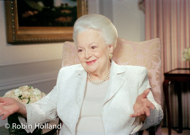 Olivia de Havilland, NYC, 4/6/04