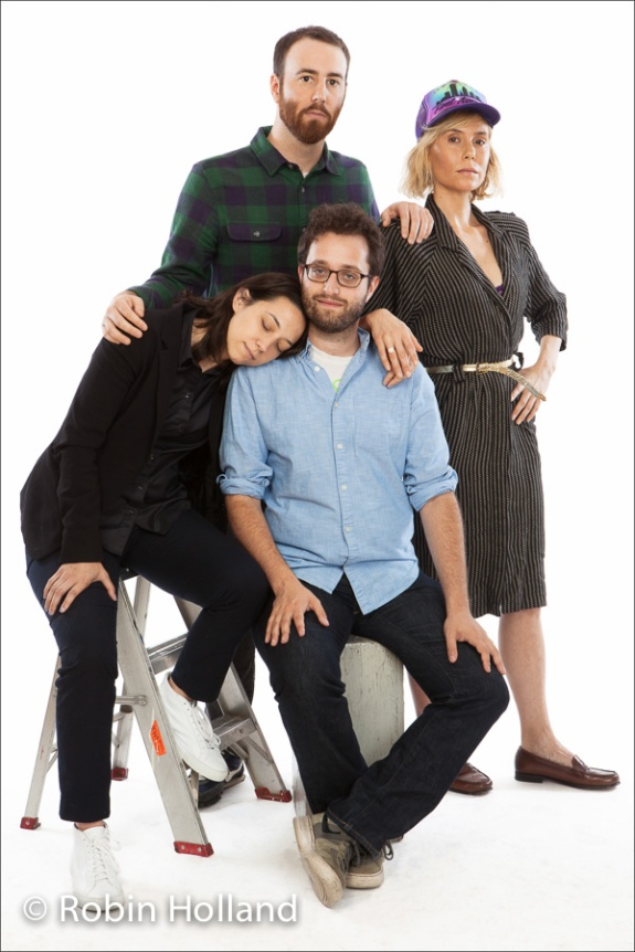 Clockwise from top: Daniel Patrick Carbone, Lily Baldwin, Dan Schoenbrun and Lauren Wolkstein