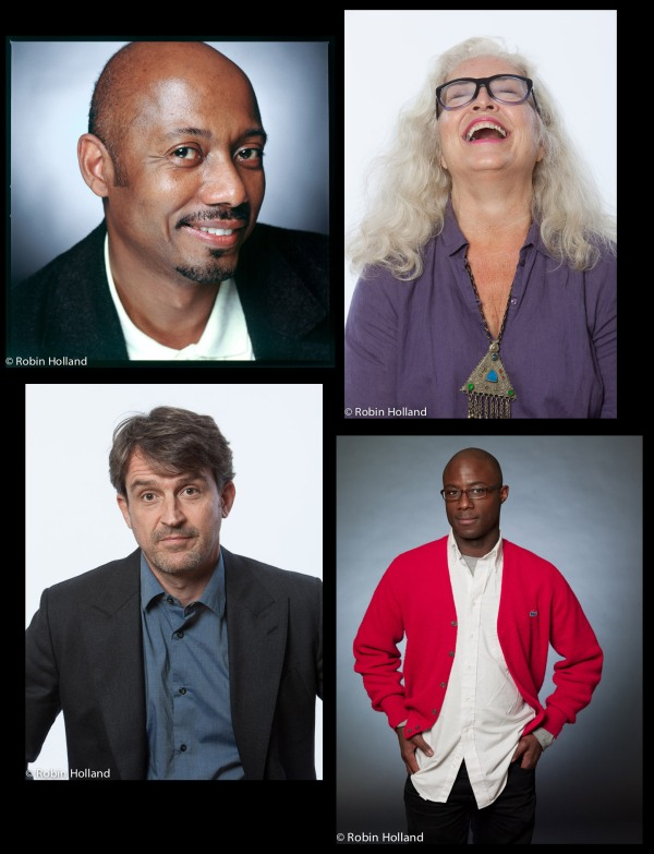 Clockwise from top left: Raoul Peck, Krisha Fairchild, Barry Jenkins and Lorenzo Vigas