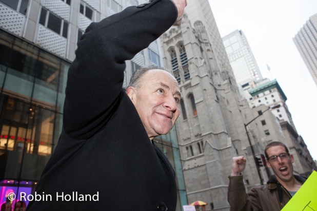 Senator Chuck Schumer (D-NY), Women's March on NYC, 1/21/17