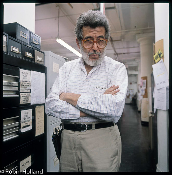 Nat Hentoff, Village Voice offices, Cooper Square, NYC, 11/9/90
